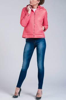 Короткая куртка с капюшоном (коралловая) CONVER