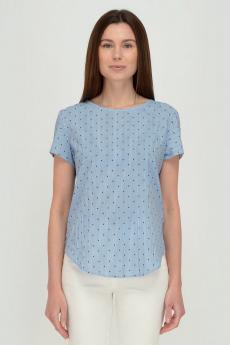 Голубая блузка в полоску Viserdi